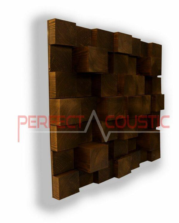 Kubieke akoestische diffuser natur (3)