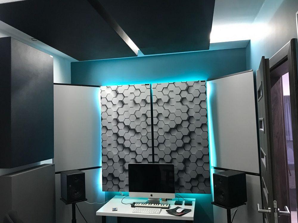 Perfect Acoustic geluidsabsorberend paneel in een kleine huisstudio (2)