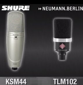 Shure ou Neumann-microfoons