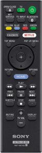 Telecomando Sony X800