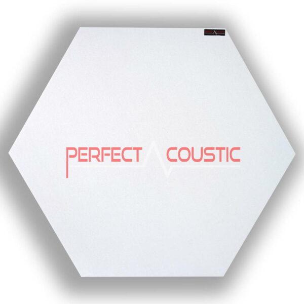 Zeshoekig akoestisch paneel met patroon wit
