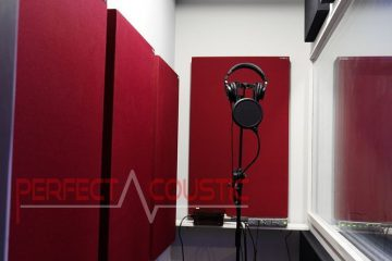 akoestisch beheer van de opnamekamer