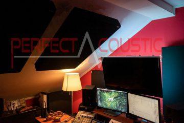 akoestische meting van studio op dak