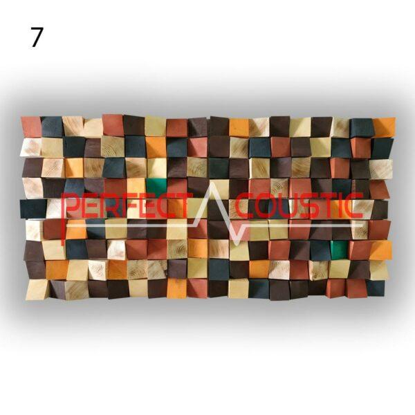 art akoestische diffuser 7 kleurstalen, voorkant. (3)