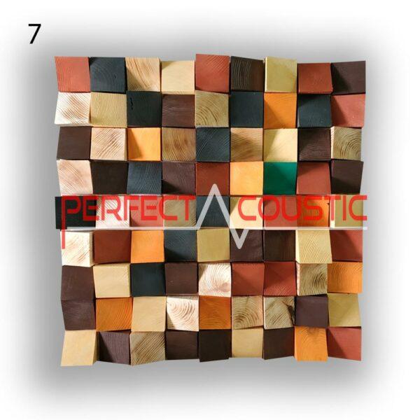 art akoestische diffuser 7 kleurstalen, voorkant. (4)