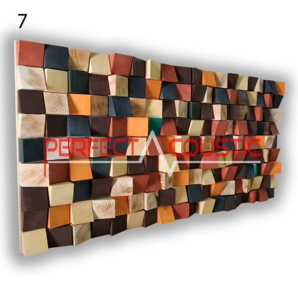 art akoestische diffuser 7 kleurstalen, voorkant. (5)