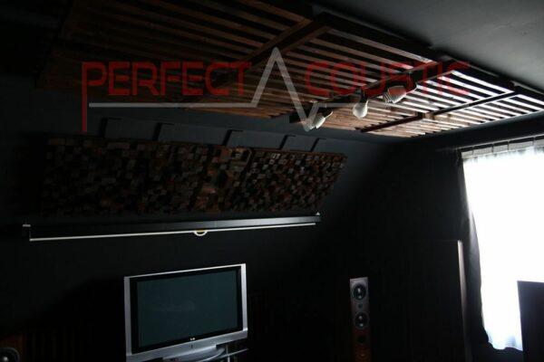 bioscoopzaal akoestisch ontwerp met akoestische absorbers