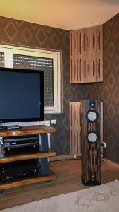 diffusor akoestische panelen, geluidsabsorberend paneel, bass trap met diffusorfront.