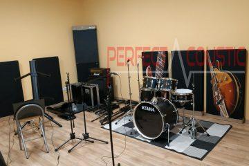 bass trap-diffusor voorpaneel akoestische panelen in studio-