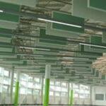 groene plafondpanelen