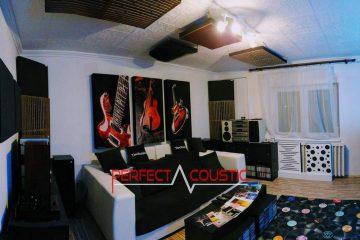 home theater akoestisch ontwerp met bas absorber