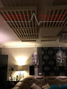 home theater akoestisch ontwerp met diffuser voorpaneel akoestische diffuser