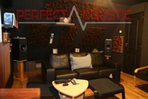 home theater kamer akoestiek ontwerp met akoestische absorbers