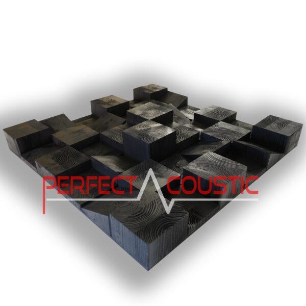 houten kubus diffuser in mat swartz