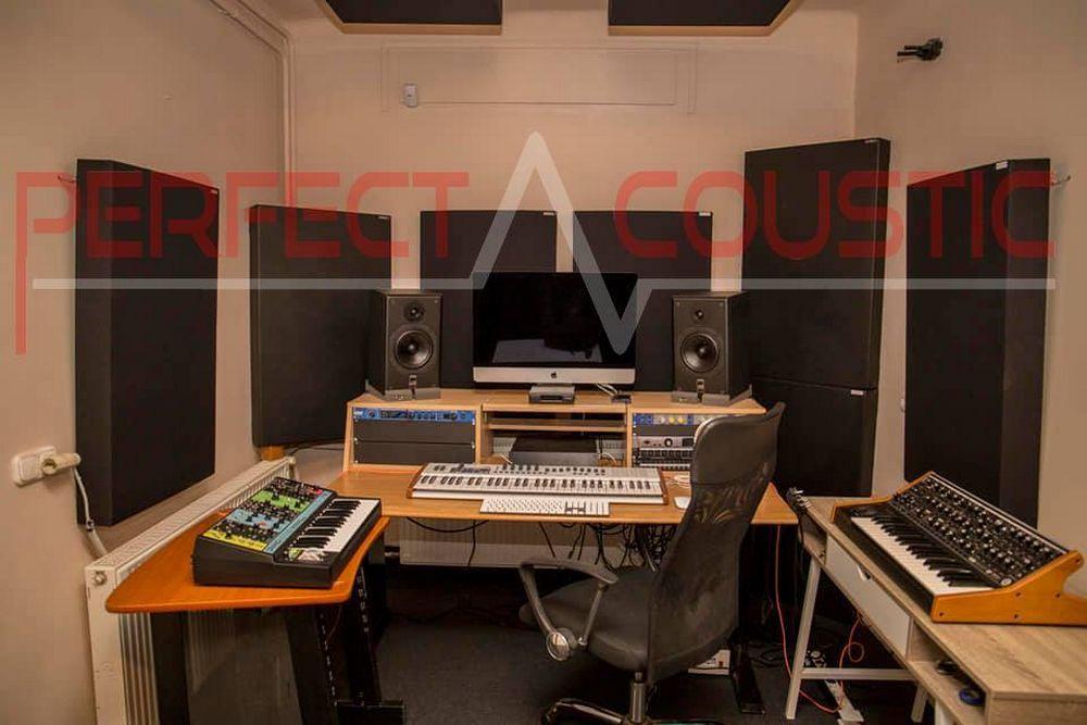 kamer akoestisch ontwerp met diffusor voorpaneel akoestische panelen (2)