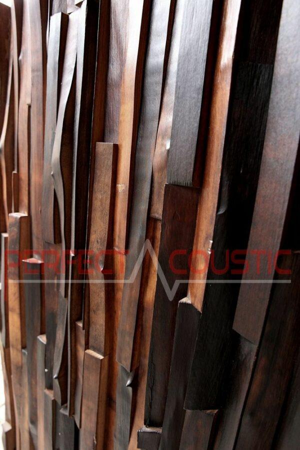 Hardhout log akoestische diffuser