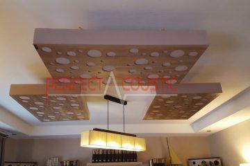 Gebruik van het plafond in geval van bezette muren.