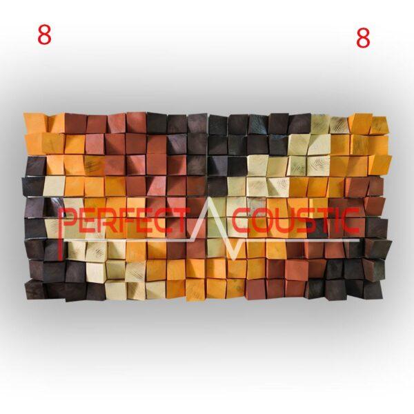art akoestische diffusers 8 kleuren