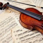 viool geprint akoestisch paneel