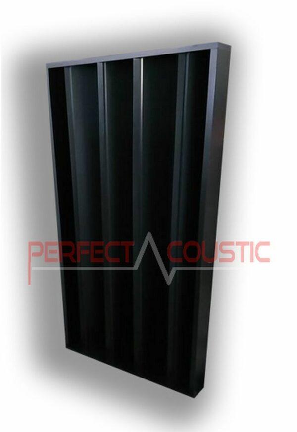 zuilvormige akoestische diffuser zwart